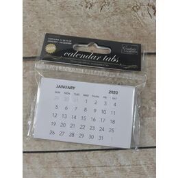 Couture Creations - 2020 Calendar Tabs - White CO726810 Pack of 100
