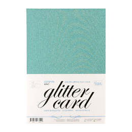 Couture Creations A4 Glitter Card (10sheets, 250gsm) - Mint / Aqua CO727170