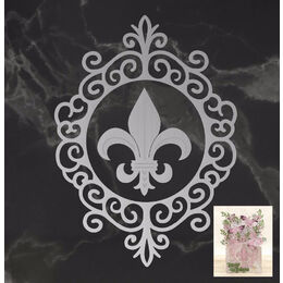 Couture Creations Dies - Peaceful Peonies - Framed Fleur De Lis Set (2pc)