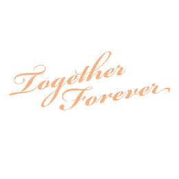Couture Creations Mini Stamp - My Secret Love - Together Forever Sentiment (1pc) 50 x 50mm