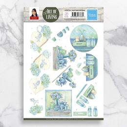 3D Diecut Decoupage A4 Sheet - Blue Table Settings - Jeanine's Art CO727744