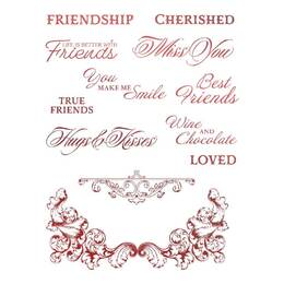 Couture Creations Stamp Set - Blooming Friendship - Cherished Friends (12pc)