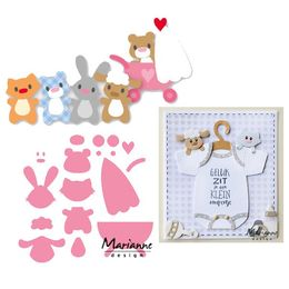 Marianne Design - Collectables Dies - Eline's Baby Animals & Pram COL1422