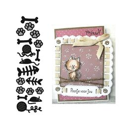 Marianne Design - Craftables Dies - Punch Die Cats & Dogs CR1368