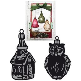 Marianne Design - Craftables Dies - Tiny's Ornaments Church & Owl CR1381