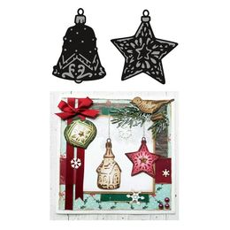 Marianne Design - Craftables Dies - Tiny's Ornaments Star & Bell CR1382