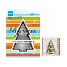 Marianne Design - Craftables Dies - Cross Stitch Christmas Tree CR1481