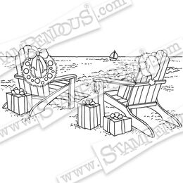 Stampendous Cling Stamp - Seaside Christmas