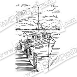 Stampendous Cling Stamp - Boat Docking