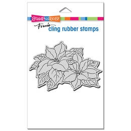 Stampendous Cling Stamp - Precious Poinsettias