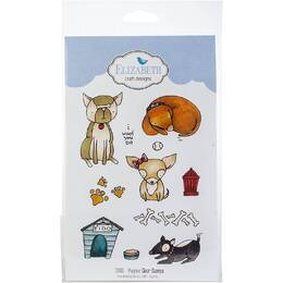 Elizabeth Craft Clear Stamps - Puppies CS081