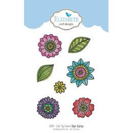 Elizabeth Craft Clear Stamps - Colour My Flowers CS094