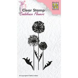 Nellie Snellen Clear Stamps Condolence Flowers - Flower 6 CSCF006