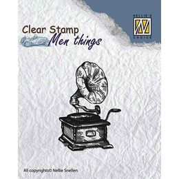 Nellie Snellen Clear Stamps Mens Things - Gramophone CSMT002