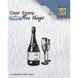 Nellie Snellen Clear Stamps Men Things - Wine CSMT003