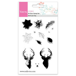 Crafts Too 3D Clear Stamp Set - Multi Layer Stag (13pcs) CT25812