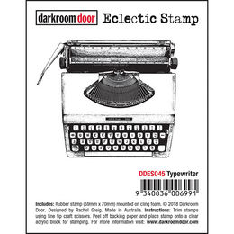 Darkroom Door Eclectic Stamp - Typewriter DDES045
