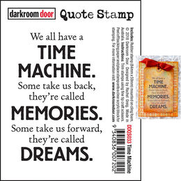Darkroom Door Quote Stamp - Time Machine DDQS033