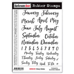 Darkroom Door Rubber Stamp Set - Diary Dates DDRS191
