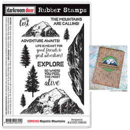 Darkroom Door Rubber Stamp Set - Majestic Mountains DDRS193