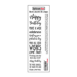 Darkroom Door Sentiment Stamps - Happy Birthday DDSE001