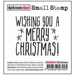 Darkroom Door Small Stamp - Christmas DDSM002