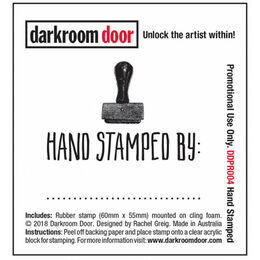 Darkroom Door Small Stamp - Hand Stamped DDSM004