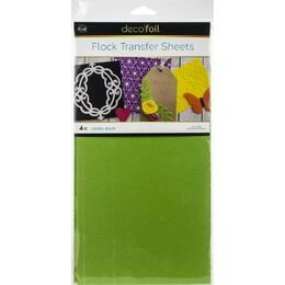"Deco Foil Flock Transfer Sheets 6""X12"" 4/Pkg - Green Envy"