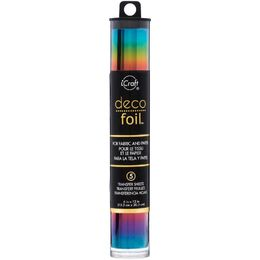 "iCraft DECO FOIL Specialty Transfer Sheets 6""X12"" 5/Pkg - Rainbow"