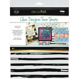 "iCraft Deco Foil Clear Toner Sheets 8.5""X11"" 4/Pkg - Distressed Lines"