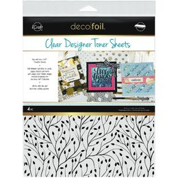 "iCraft Deco Foil Clear Toner Sheets 8.5""X11"" 4/Pkg - Branching Out"