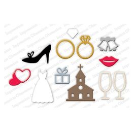 Impression Obsession  Dies - Wedding Icons DIE245-S