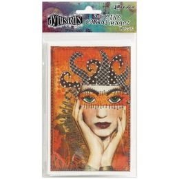 "Dyan Reaveley's Dylusions Adhesive Canvas 3.375""X5.25"" 8/Pkg - Set #1 DYA48435"