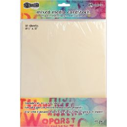 Dylusions Mixed Media Cardstock 10/Pkg DYA53804