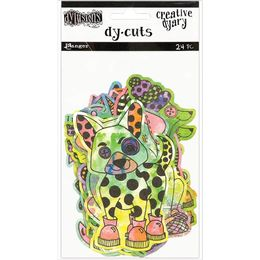 Dyan Reaveley's Dylusions Creative Dyary Die Cuts - Colored Animals DYE58649