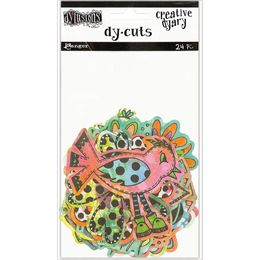 Dyan Reaveley's Dylusions Creative Dyary Die Cuts - Colored Birds & Flowers DYE58717