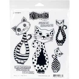"Dyan Reaveley's Dylusions Cling Stamps 8.5""X7"" - Puddy Cat DYR53675"