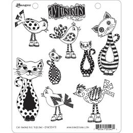 "Dyan Reaveley's Dylusions Cling Stamps 8.5""X7"" - Cat Among Pigeons DYR55471"