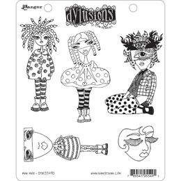 "Dyan Reaveley's Dylusions Cling Stamps 8.5""X7"" - Mini Moo DYR55495"