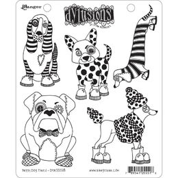 "Dyan Reaveley's Dylusions Cling Stamps 8.5""X7"" - Puppy Dog Tales DYR55518"