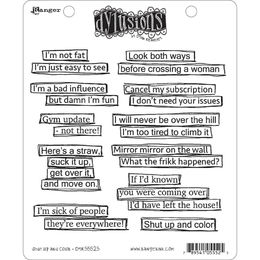 "Dyan Reaveley's Dylusions Cling Stamps 8.5""X7"" - Shut Up And Color DYR55525"