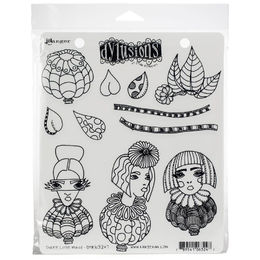 "Dyan Reaveley's Dylusions Cling Stamps 8.5""X7"" - Three Little Maids DYR63247"