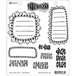 "Dyan Reaveley's Dylusions Cling Stamps 8.5""X7"" - Don't, Won't, Can't DYR64664"