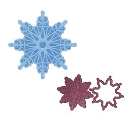 Cheery Lynn Designs Dies - Cut And Emboss Snowflake 2 (2 pcs) E201