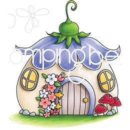 Stamping Bella Cling Stamps - Little Bits Fairy House EB707