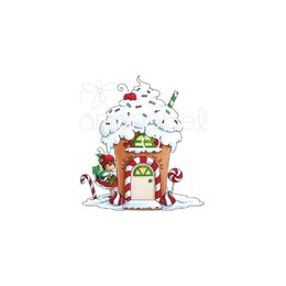 Stamping Bella Cling Stamps - Teeny Tiny Townie Gingerbread House EB750