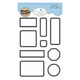 Elizabeth Craft Clear Stamps - Retro Labels