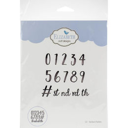 Elizabeth Craft Metal Die - Blackboard Numbers EC1535
