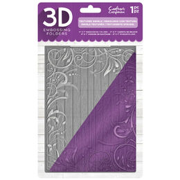 "Crafter's Companion 5""x7"" 3D Embossing Folder - Textured Swirls"
