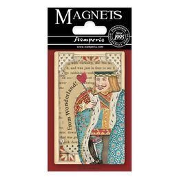 "Stamperia Magnet 2.25""x3.25""- Queen Of Hearts, Alice EMAG012"